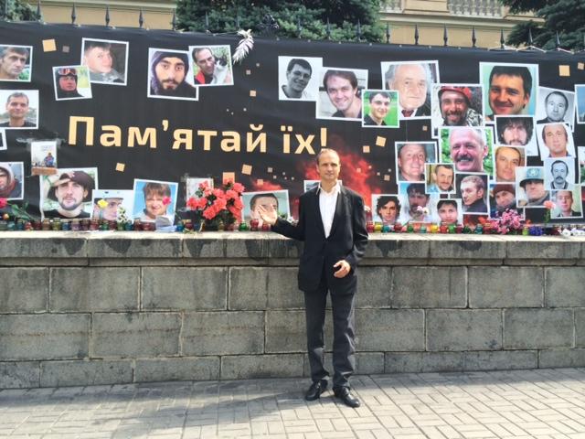 Mahnmal für gefallene Ukrainer in Kiew